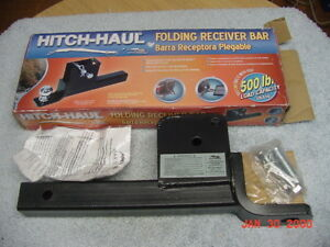 New Hitch Haul Folding Reciever Bar Ball Mount Fits 2 Reciever Hitch Opening