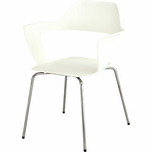 Mayline Safco Bandi Shell Stack Chairs Set Of 2 White Model 4275wh
