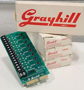 Lot Of 4 New Grayhill 70rck8 Mounting Relay Board Standard I o Rack Nib