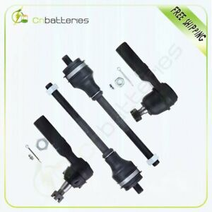 Front Inner Outer Tie Rod End Link For 1997 1999 Dodge Dakota Durango 4wd 4x4