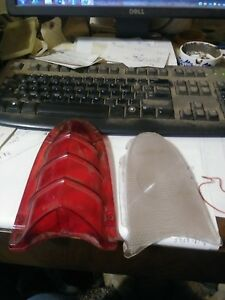 Nos 1955 Buick Tail Lamp Lenses 5946071 5946072