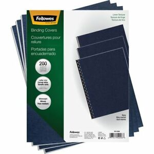 Fellowes Fel52098 Linen Unpunched Presentation Covers 200 Pack Navy W