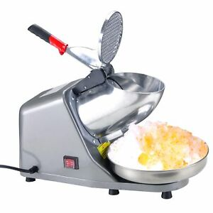 Electric Hawaiian Shaved Ice Crusher Shave Snow Sno Cone Maker Snowball Machine