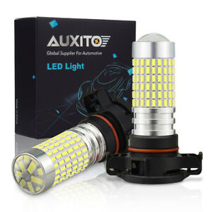 2800lm Psx24w 2504 12276 High Power 144 Smd Super White 6000k Led Fog Light Bulb