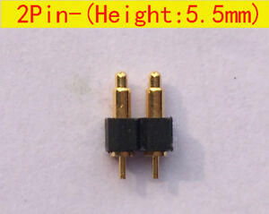 2pin 5 5mm Height Dip Smd Type Pogo Pin Connector Battery Contact Probe 50pcs