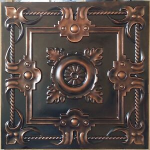 Suspended Ceiling Tile Faux Tin Palaeo Copper Decor Wall Panels Pl29 10pcs