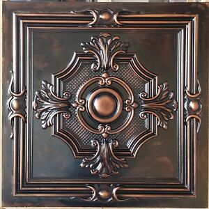 Suspended Ceiling Tile Faux Tin Palaeo Copper Decor Wall Panels Pl38 10pcs lot