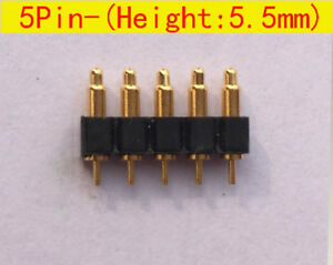 5pin 5 5mm Height Spring Loaded Pin Pogo Pin Connector Battery Contacts 50pcs