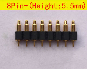 8pin 5 5mm Height Smd Battery Spring Loaded Pin Pogo Pin Connector Probe 30pcs