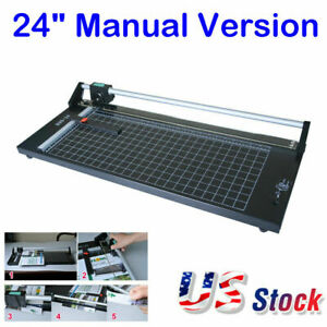 24 Precision Rotary Paper Trimmer Manual Sharp Photo Paper Film Cutter Usa