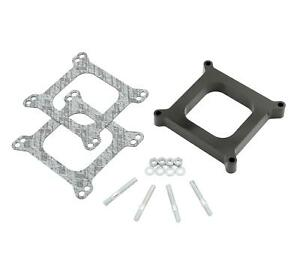 Mr Gasket Carburetor Spacer 4 barrel Square Bore 1 Phenolic Open 3405