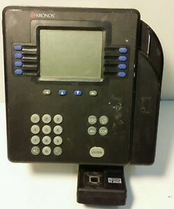 Used Kronos Time Clock System 4500 8602800 502 see Pictures