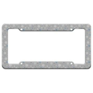 Winter Snowflakes Blue Purple Gray License Plate Tag Frame