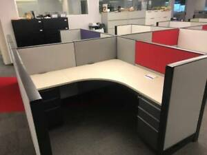 Nice Haworth 6 x6 Office Cubicles Workstations