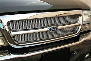 2pc Mx Series Mesh Grille Grillcraft Fits 1998 1999 2000 Ford Ranger 2wd