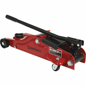 Strongway Low Profile Hydraulic Service Jack 2 1 2 Ton Cap 3 1 2in 14 1 8in Lift