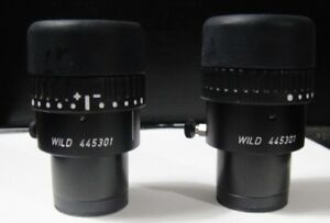 Wild 16x 14b Focusable Microscope Eyepieces 30mm one Pair 445301