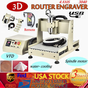 Usb 3040 Cnc 4 Axis Router Engraver 800w Vfd Milling Drilling Controller Sale