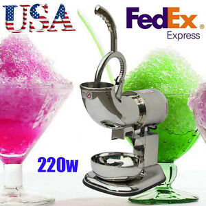 Usa Electric 400lbs Crusher Stainless Ice Shaver Machine Shaving Icee Cold Drink