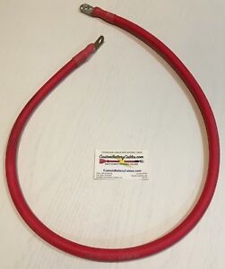 49 3 0 Ga Sgx Custom Battery Cable W 3 8 Hd Lug End And 3 8 Std Lug End