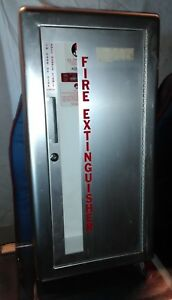 Fire Extinguisher Cabinet Recessed Jl Industries Stainless Steel 010 923329 w