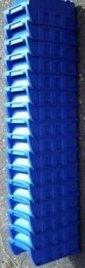 Blue Plastic Stackable Storage Bins Lot Of 16 For Small Tools Nuts Bolts Etc New