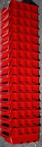 Red Plastic Stackable Storage Bins Lot Of 16 For Small Tools Nuts Bolts Etc New