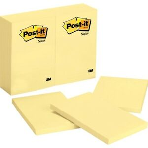 Post it Notes 4 In X 6 In Canary Yellow 659