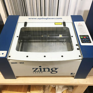 Epilog Zing 30 Watt Model 10000 Laser Cutter Engraver 16 X 12 Used