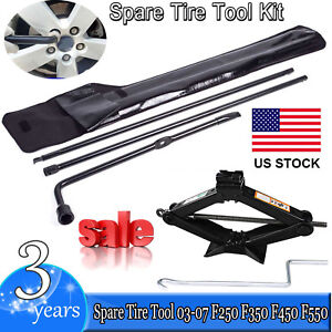 For Ford Super Duty F250 Repair Scissor Jack Handle Kit Spare Tire Change Tools
