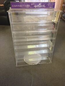 Acrylic Rotating Commercial Countertop Display With 12 Shelves