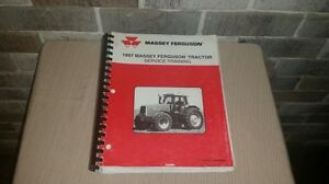 Huge 1997 Massey Ferguson Farm Tractor Service Training Manual Book