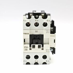 Teco Cu 38 Magnetic Contactor 55a 3 Phase 24v Coil 3a1a1b no And Nc