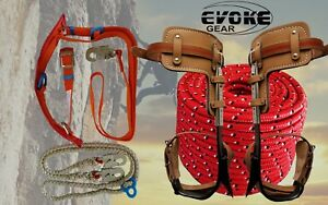 Tree Climbing Spike Set Pole Climbing Spurs Climber Harness Lanyard Rope