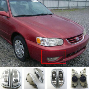 Clear Front Bumper Driving Fog Light Lamp For 2001 02 Toyota Corolla 8122002030