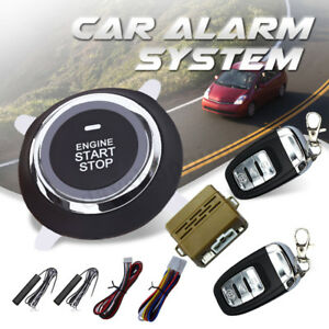 Car Alarm System Pke Keyless Entry Push Button Engine Ignition Starter Remote