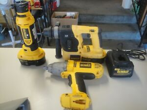 Dewalt 3 Tool Combo 18v Sds Rotary Hammer Drill Dc212 1 2 Impact Cut Out 1c