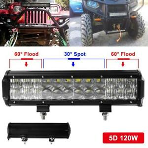 120w 12inch Osram Led Light Bar 5d Suv Spot Flood Car Driving Led Lamp 12000lm