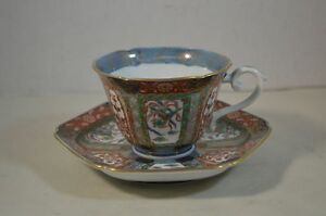 Antique Chinese Or Japanese Porcelain Cup And Saucer With Flowers And Phoenix