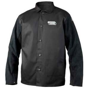 Lincoln Electric K3106 Traditional Split Leather Sleeved Welding Jacket Medium