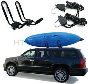 1 Pair Kayak Carrier Rack Car Suv Truck Top Mount Carrier J Cross Bar
