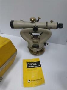 Berger Instruments 326 Transit With Yellow Hard Case