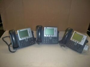 Lot Of 3 cisco 7900 Series Cp 7940g Voip Phone See Notes
