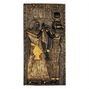 Ancient Egypt Egyptian Goddess Isis Wall Plaque Sculpture
