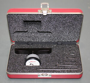 Starrett Top Reading Dial Depth Gage 642 0 4 Micrometer Tool Missing 1 Rod