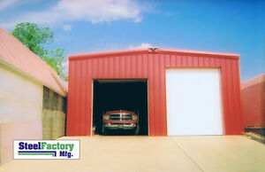 Steel Factory 30x40x14 Rigid Beam Galvanized Frame Garage Building Kit 2 12 Roof