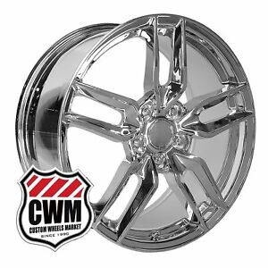 Oe Replica 160c 17x8 5 18x9 5 Corvette Stingray Chrome Wheels Rims C4 C5