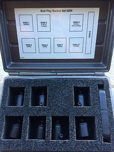 Miller Special Tools Transmission End Play Spline Socket Set 8266