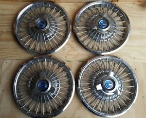 1965 1966 Ford Galaxie Ltd 14 In Set Of 4 Hubcap Wheel Covers Antique Vintage
