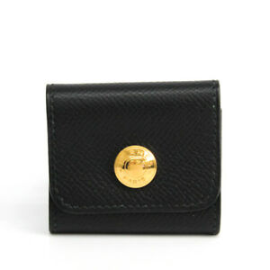 Hermes Courchevel Leather Notebook Black Post It Cover Bf328979